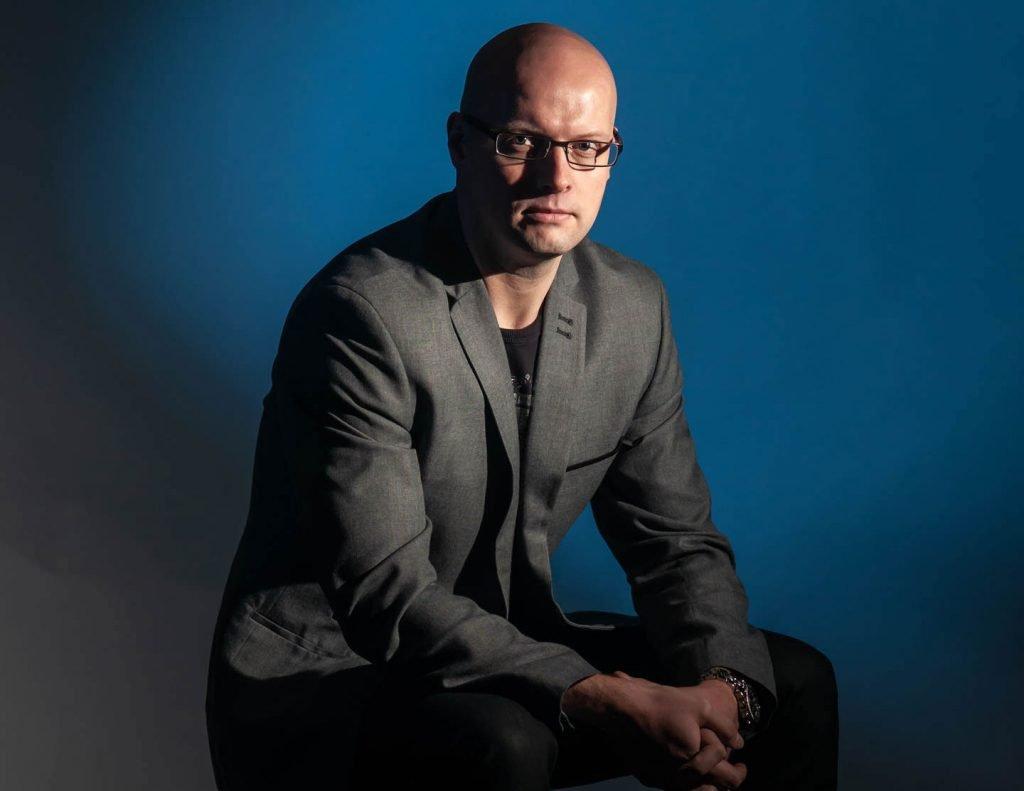 man sitting portrait business profile
