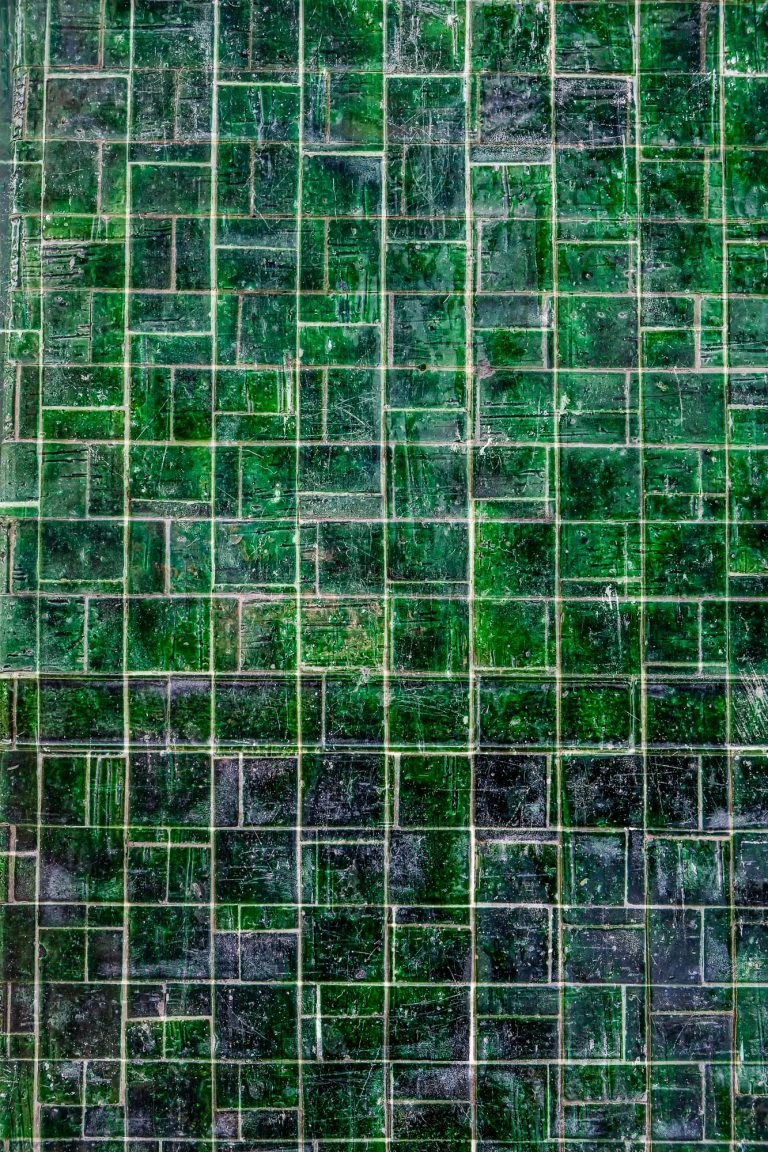Green Tiles Square Pattern