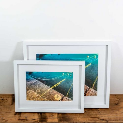 framed print Cornwall harbour